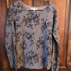 Banana Republic lightweight flower sweater